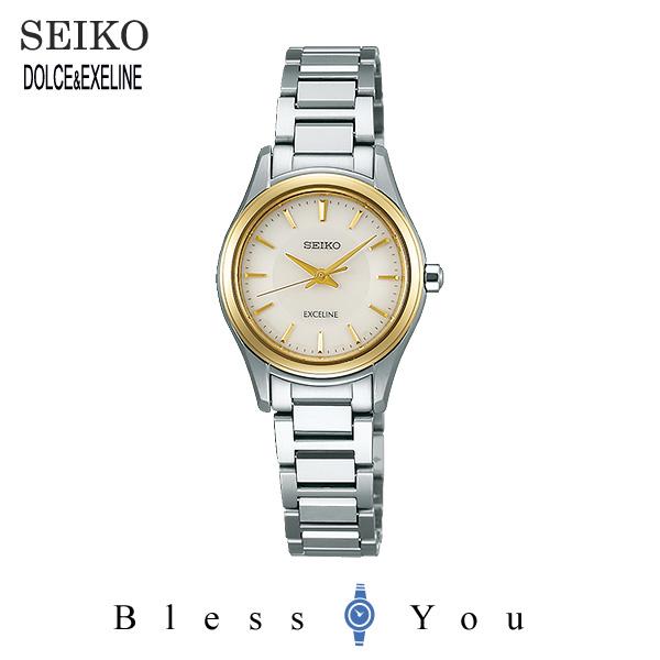 2017年10月 セイコー ソーラー 腕時計 レディース エクセリーヌ SEIKO EXCELINE ペアモデル SWCQ094 50,0