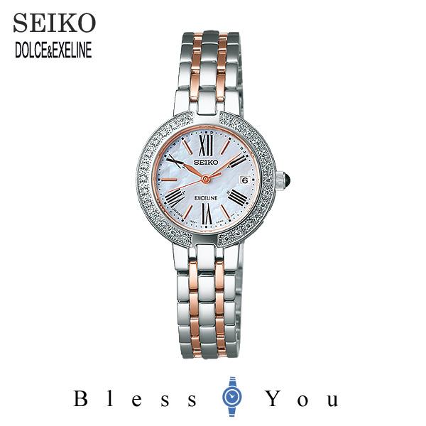 ソーラー 電波時計 セイコー エクセリーヌ レディース 腕時計 SWCW106 新品お取り寄せ 120,0
