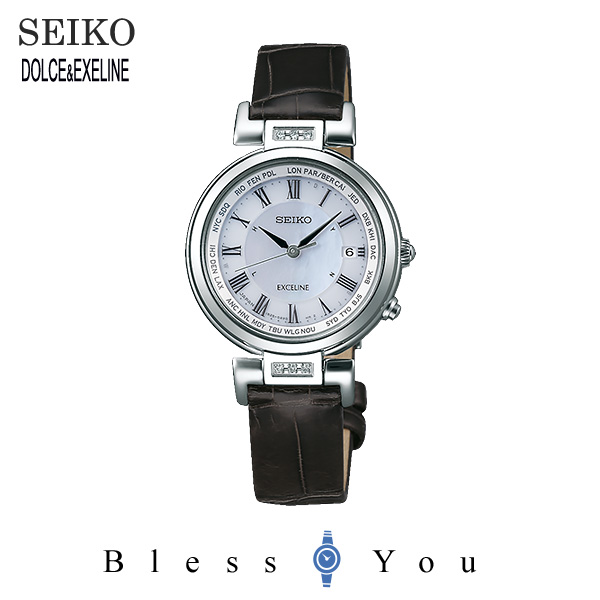 セイコー ソーラー電波 腕時計 レディース エクセリーヌ SEIKO EXCELINE ペアモデル SWCW109 120,0