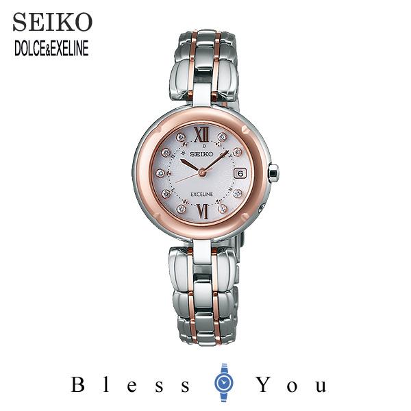ソーラー 電波時計 セイコー エクセリーヌ レディース 腕時計 SWCW008 新品お取り寄せ 150,0