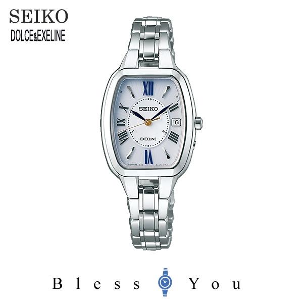 SEIKO EXCELINE セイコー ソーラー電波 腕時計 レディース エクセリーヌ SWCW135 120,0