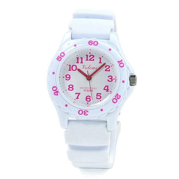子供の日 ジュニア レディース [シチズン Q&Q フォルカス]  防水 軽量 腕時計 VS01V010 WH/PI