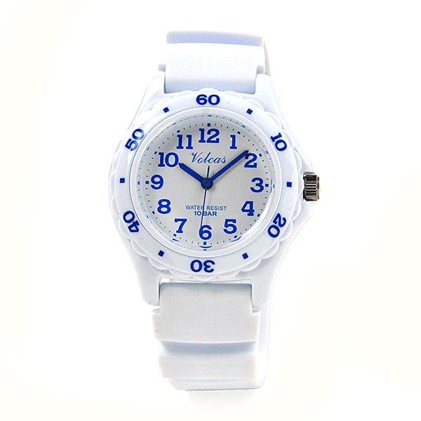 子供の日 ジュニア レディース [シチズン Q&Q フォルカス]  防水 軽量 腕時計 VS01V011 WH/BU