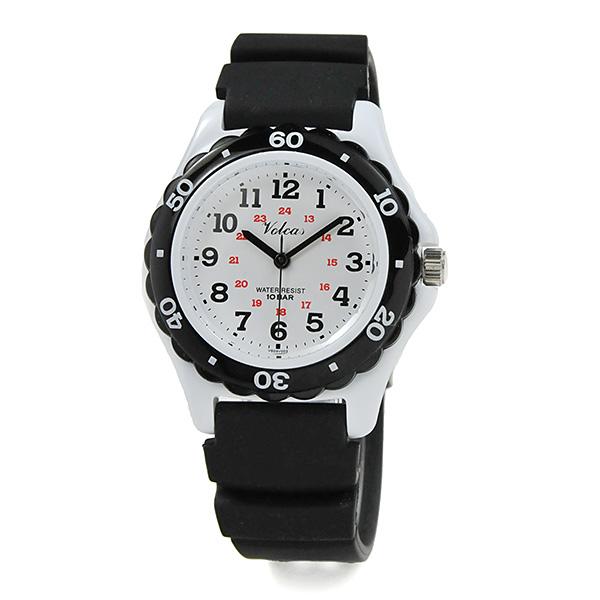 子供の日 ジュニア レディース [シチズン Q&Q フォルカス]  防水 軽量 腕時計 VS03003 ブラック