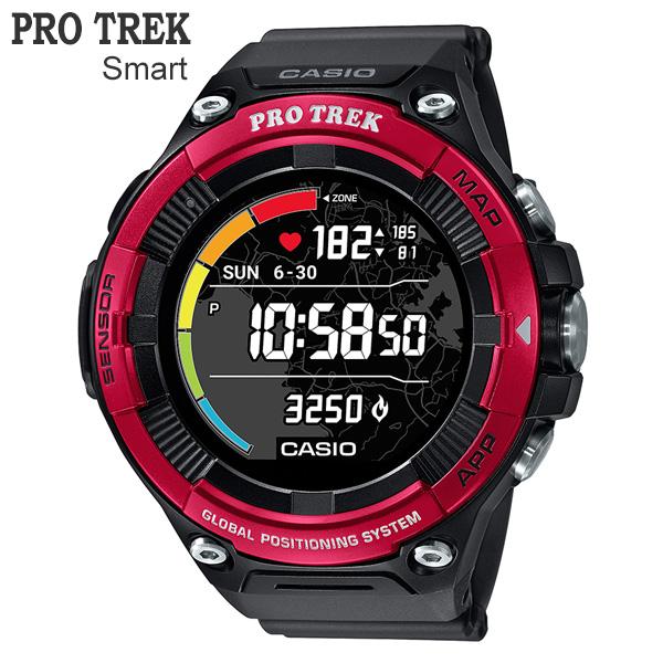 カシオ PRO TREK Smart プロトレック・スマート 心拍計測機能&GPS機能 同時搭載モデル WSD-F21HR-RD
