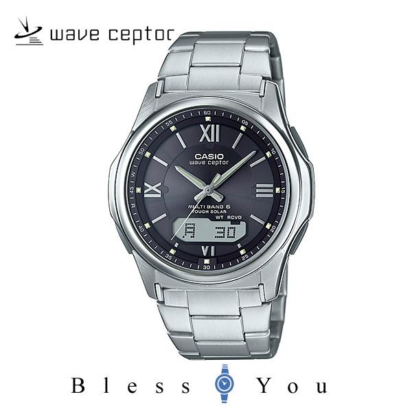 ソーラー電波時計 カシオ 腕時計 CASIO ウェーブセプター wva-m630d-1a4jf メンズウォッチ ブラック(ローマ数字)