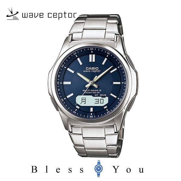 ソーラー電波時計 カシオ 腕時計 CASIO ウェーブセプター WVA-M630D-2AJF メンズウォッチ ネイビー
