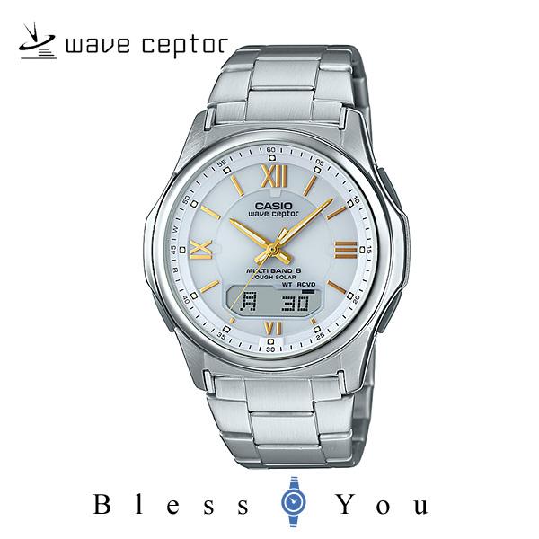ソーラー電波時計 カシオ 腕時計 CASIO ウェーブセプター WVA-M630D-7A2JF メンズウォッチ ホワイト(ローマ数字)