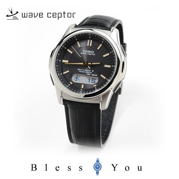 カシオ 腕時計 CASIO ウェーブセプター 電波ソーラー レザーバンド WVA-M630L-1A2JF 20,0