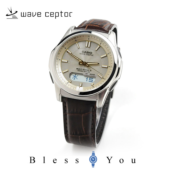 カシオ 腕時計 CASIO ウェーブセプター 電波ソーラー レザーバンド WVA-M630L-9AJF 20,0