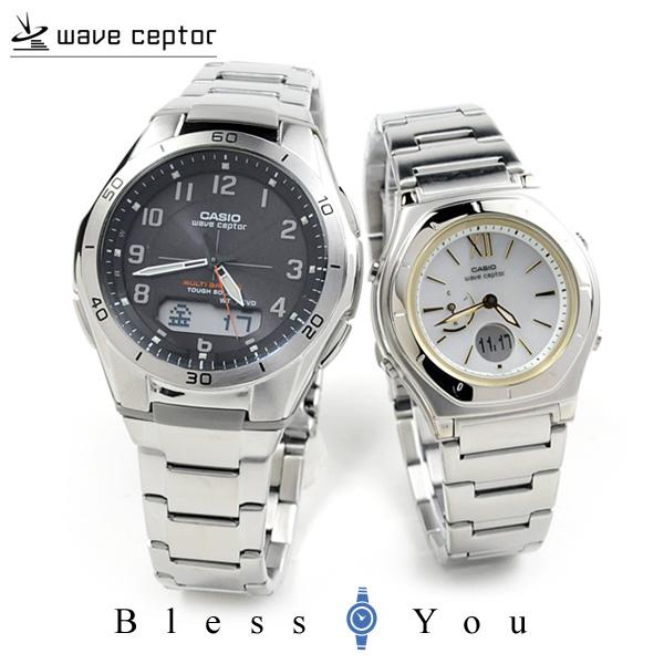 ペアウォッチ カシオ ウェーブセプター bk&whg[2] WVA-M640D-1A2JF-LWA-M160D-7A2JF 56,0 ソーラー電波時計 腕時計