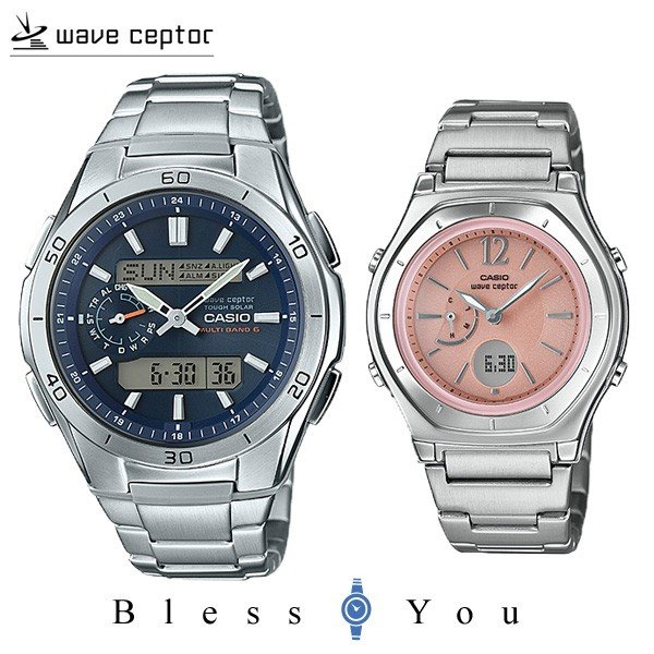 カシオ ウェブセプター ペアウォッチ ソーラー電波時計(腕時計) bu&pi WVA-M650D-2AJF-LWA-M160D-4A1JF 56,0