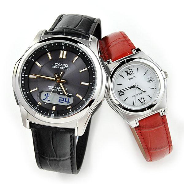ペアウォッチ カシオ ウェブセプター ソーラー電波時計 腕時計 ペア WVA-M630L-1A2JF-LWQ-10LJ-4A2JF 40,0