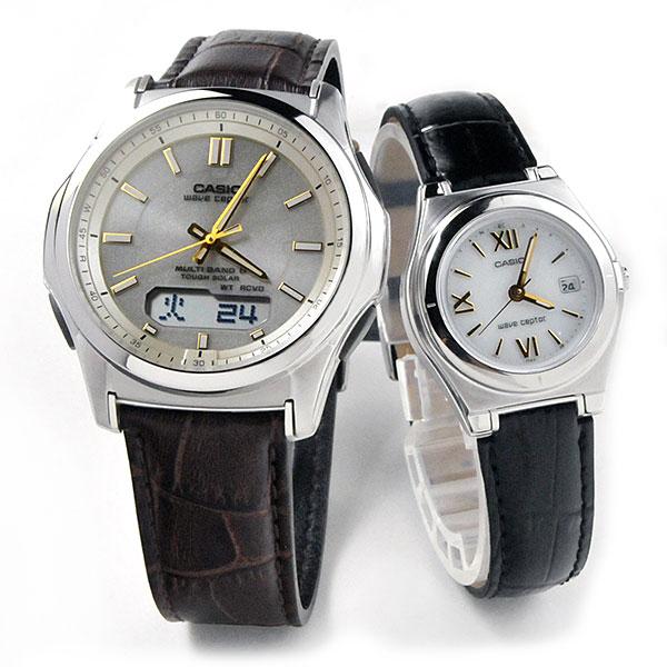 ペアウォッチ カシオ ウェブセプター ソーラー電波時計 腕時計 ペア WVA-M630L-9AJF-1AJF-LWQ-10LJ-1A1JF 40,0