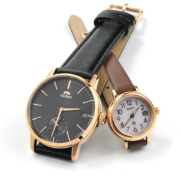 オリエント ペアウォッチ 腕時計 RN-SP0003B-WI0041WG 39,0 レザーバンド ペア ウォッチ カップル ブランド