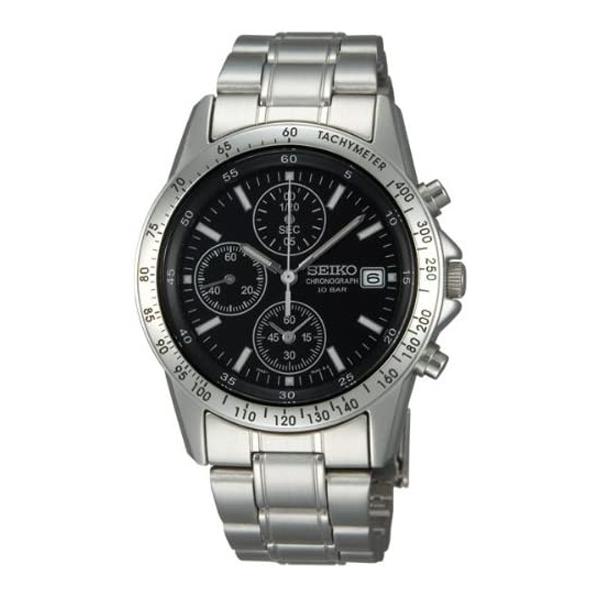 セイコー クロノグラフ 腕時計 スピリット2 SEIKO SBTQ041 15,0 ブラック ギフト