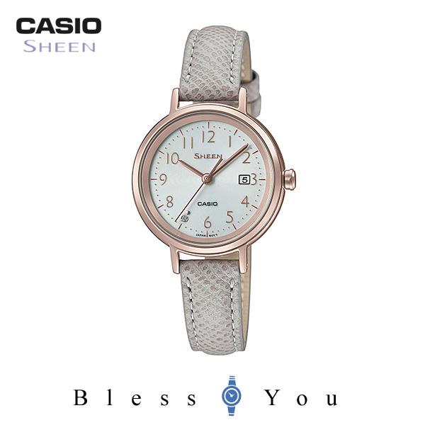 CASIO SHEEN カシオ ソーラー 腕時計 レディース シーン 2019年2月新作 革バンド SHS-D100CGL-7AJF 22,0