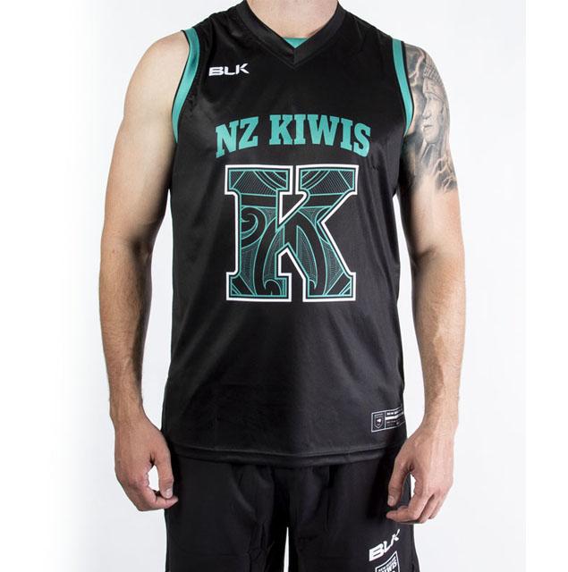 ニュージーランド代表キーウィズ(ラグビーリーグ)バスケットボールシングレット 2020