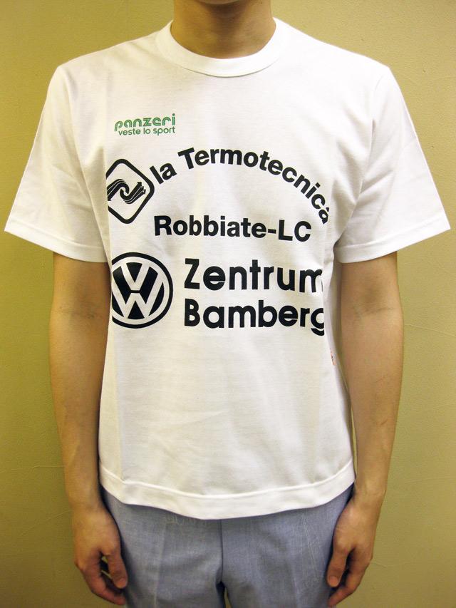 "PANZERI ""la Termotecnica"" S/S Tシャツ/ホワイト"