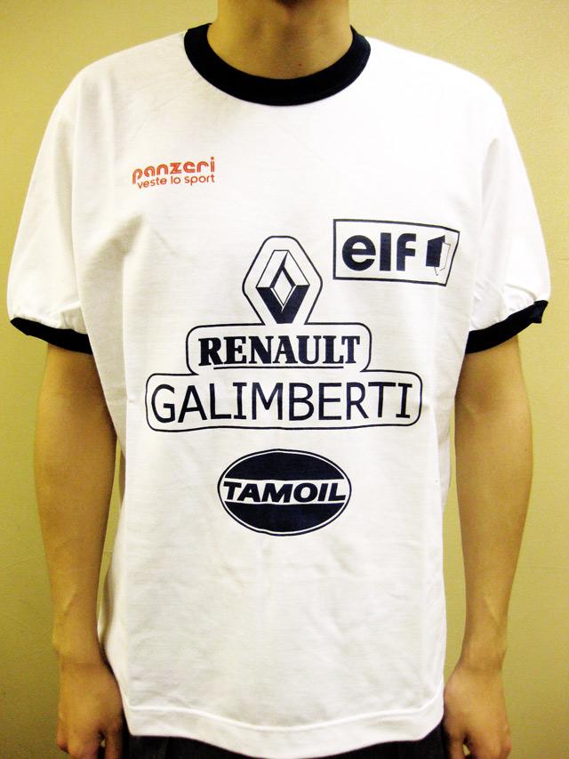 "PANZERI ""RENAULT GALIMBERTI"" トリム S/S Tシャツ ホワイト/ネイビー"