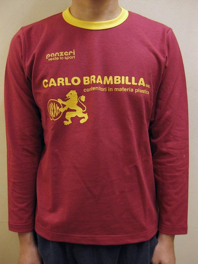 "PANZERI ""CARLO BRAMBILLA""トリム長袖Tシャツ"