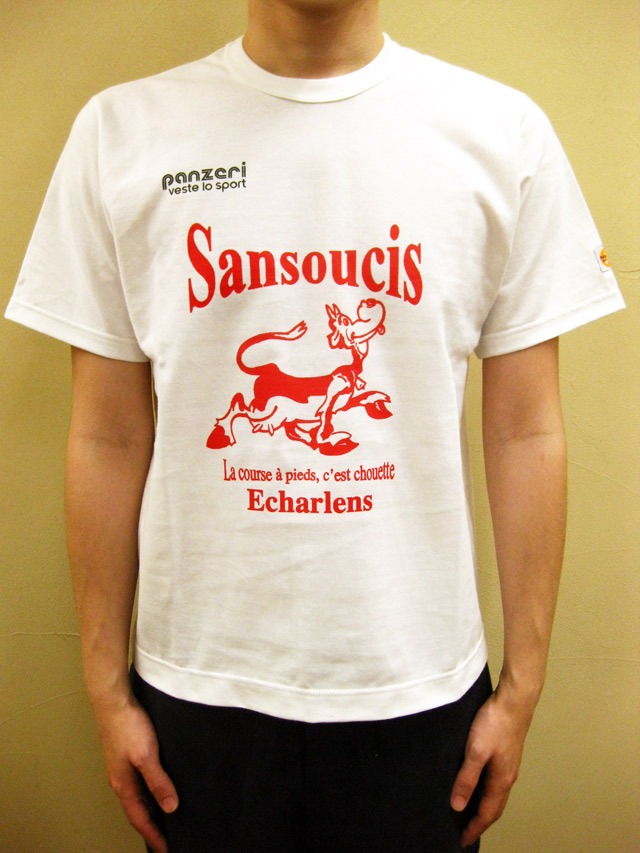 "PANZERI ""SANSOUCIS ECHARLENS"" S/S Tシャツ/ホワイト"
