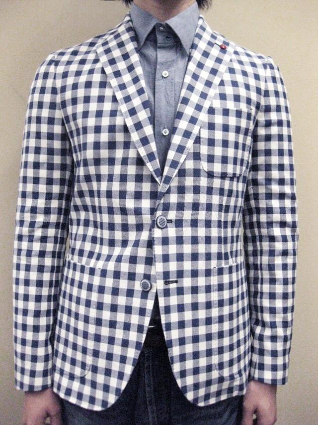 """【送料無料】 ROYAL HEM Cotton Gingham Check Jacket """"CHESTER"""""""