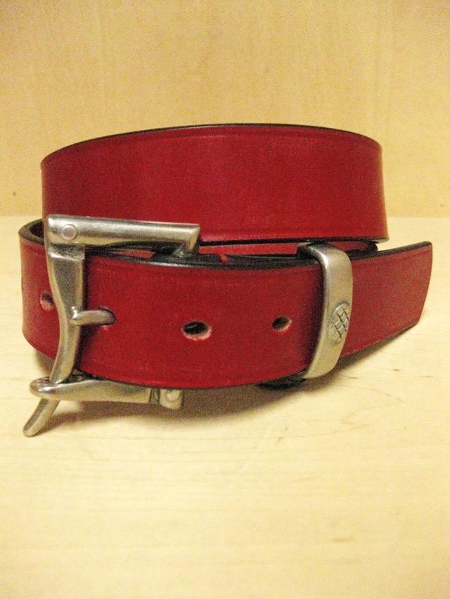 【送料無料】Martin Faizey(DAINES & HATHAWAY)  1.5inch Quick Release Belt Red