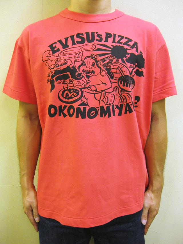 """【直営店は完売!】EVISU(エヴィス)  """"EVISU PIZZA(エヴィス ピッツァ)"""" S/S TEE"""