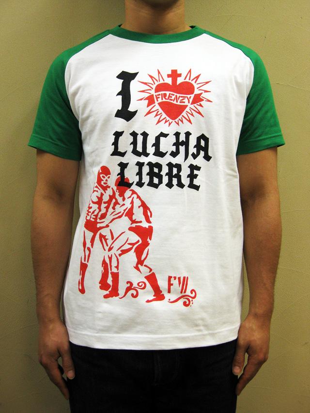 "FRENZY WORKS ""I LOVE LUCHA"" Tシャツ"
