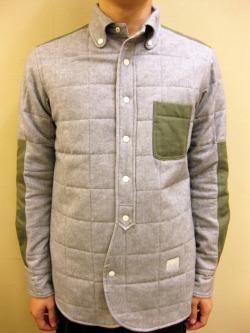 A(LeFRUDE)E ネル/ヘリンボーンツイル キルティング シャツ ジャケット