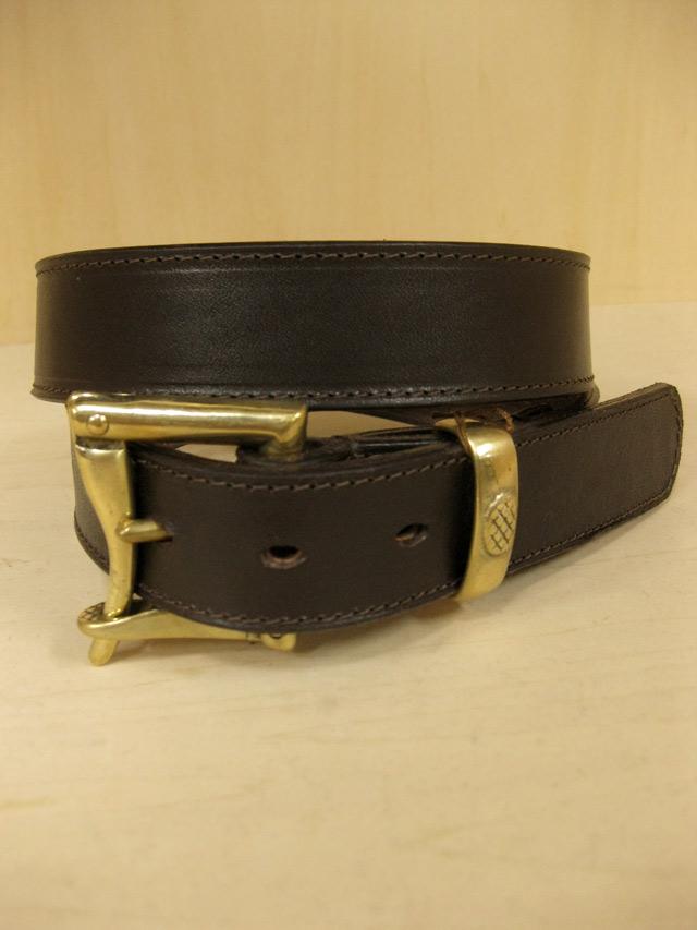 【送料無料】Martin Faizey(DAINES & HATHAWAY) CORDVAN 1.25inch Quick Release Belt Brown
