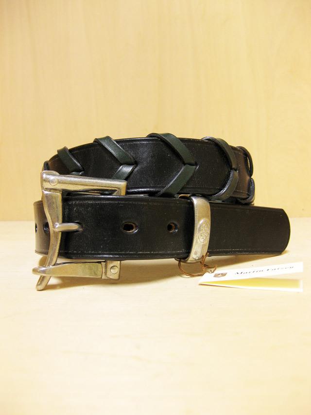 【送料無料】Martin Faizey(DAINES & HATHAWAY)  1.25inch Quick Release Elmley Belt Black/Green