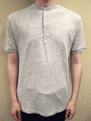 Ambiente Switzer T-Cloth Henley-neck S/S Tee