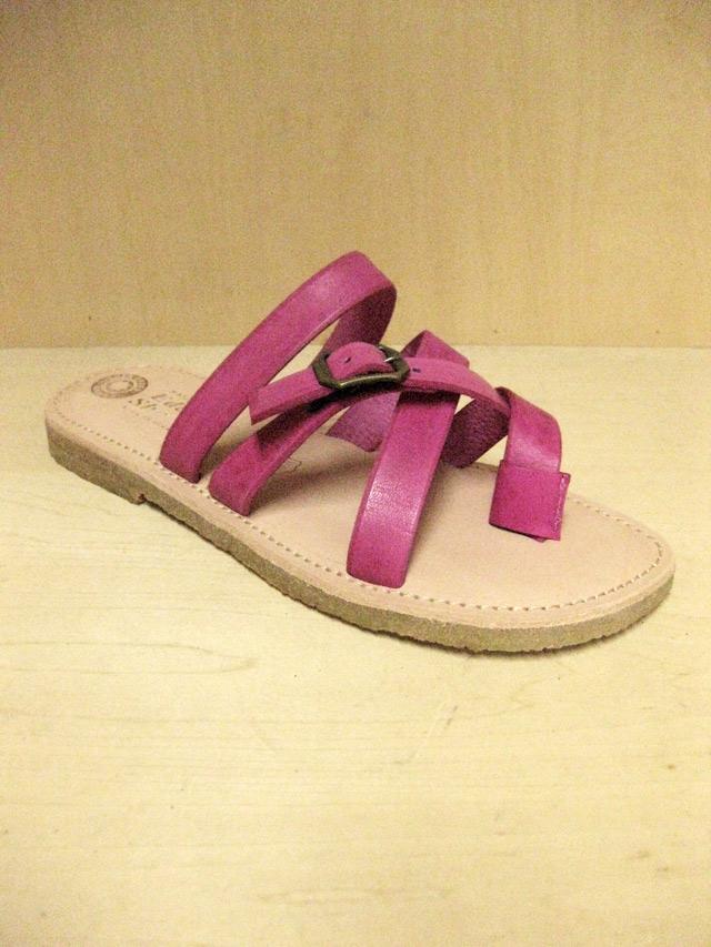 【送料無料】Eder Shoes Natural In-sole 4Strap Sandal