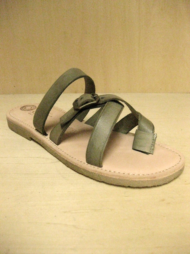 【送料無料】Eder Shoes Natural In-sole 4Strap Sandal