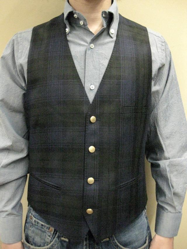 """【送料無料】 ROYAL HEM Silk/Linen/Virgin Wool West Coat(Vest) """"SALFORD"""""""