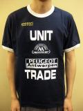 """PANZERI """"UNIT TRADE"""" トリム S/S Tシャツ ネイビー/ホワイト"""