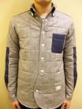 【送料無料】A(LeFRUDE)E ネル/ヘリンボーンツイル キルティング シャツ ジャケット