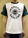 """PANZERI """"SERRIERES SABLONS"""" トリコロール S/S Tシャツ"""