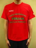 """PANZERI """"PIZZA HEIMSERVICE ITALIA"""" S/S Tシャツ/レッド"""