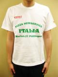 "PANZERI ""PIZZA HEIMSERVICE ITALIA"" S/S Tシャツ/ホワイト"