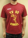 """PANZERI """"TV03 KIRKEL"""" S/S Tシャツ/ワイン"""