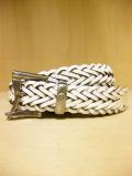 【送料無料】Martin Faizey(DAINES & HATHAWAY)  1.25inch Quick Release Mesh Belt White