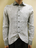 【送料無料】Enhance Element LINEN SWALLOWTAIL CLERIC SHIRT