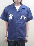 【送料無料】EVISU PARIS(エヴィス パリ) 刺繍オープンシャツ 【限定モデル】