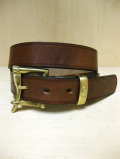 【送料無料】Martin Faizey(DAINES & HATHAWAY)  1.25inch Quick Release Belt Oak Bark Leather/Dark Stain