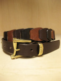 【送料無料】Martin Faizey(DAINES & HATHAWAY)  1.25inch Quick Release Cartridge Belt Brown Gradation