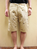【送料無料】OVER THE STRiPES BEE EMB HALF PANT