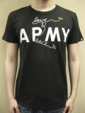 OVER THE STRiPES BEES CHANGE ARMY TO LOVE&PEACE Tシャツ